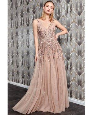 Danaya Sunray Sleeveless Sequin Maxi Dress - Mocha