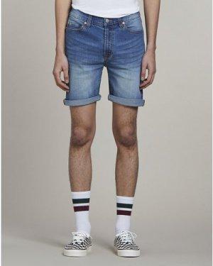 Bellfield Toulon Denim Mens Shorts | Vintagewash, 32 Inch Waist