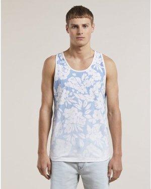 Bellfield Orvar Printed Mens Vest   Blue, Large
