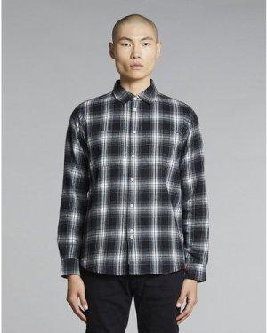 Bellfield Vallegrande Flannel Mens Shirt   Black, Medium