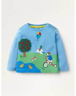 Park Scene T-shirt Blue Baby Boden, Blue