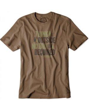 Life is Good Crusher T-Shirt Dark Brown