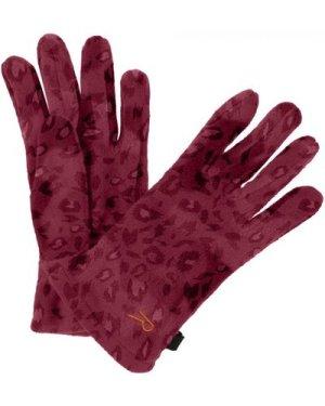 Regatta Kids' Fallon Printed Gloves - Rumba Red Animal