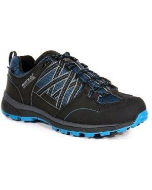 Regatta Women's Samaris II Low Waterproof Walking Shoes - Moroccon Blue Black