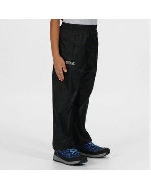 Regatta Kids Pack It Waterproof Packaway Overtrousers - Black