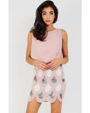 Lace & Beads Sharon Angela Pink Mini Dress