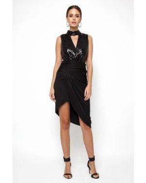 TFNC Trilby Black Sequin Dress