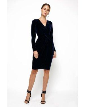 TFNC Tessa Velvet Navy Midi Dress