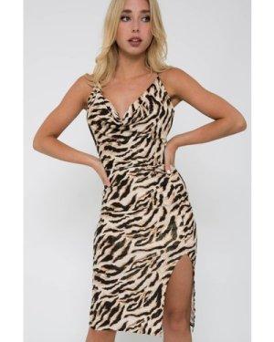 TFNC Janina Animal Print Midi Dress