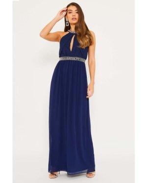 TFNC Juliet Navy Maxi Dress