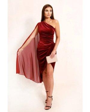TFNC Inaya Burgundy Velvet Mini Dress