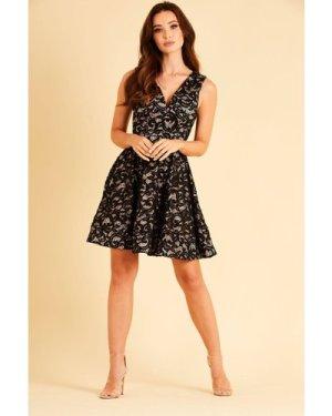 Skirt & Stiletto Talia Black Lace Mini Dress