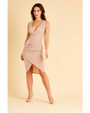 Skirt & Stiletto Cira Nude Midi Dress