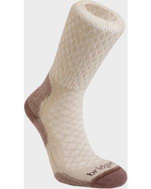 Bridgedale Women's Hike Lightweight Merino Comfort Boot Sock, BROWN/WO