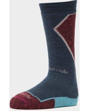 Bridgedale Womens' Merino Wool Plus Ski Sock, BLUE/BLUE