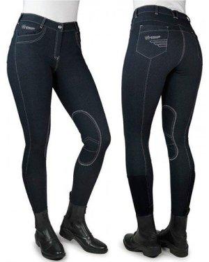 Whitaker Women's Rawdon Denim Effect Breeches, Black/Black