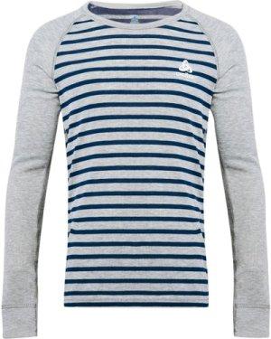 Odlo Kids' Active Warm Long Sleeve Baselayer Top, Grey/GRY