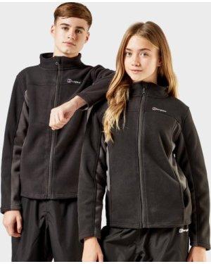 Berghaus Kid's Tyndrum Full Zip Fleece Jacket, Black/BLK
