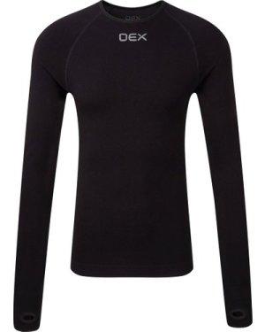 OEX Men's Barneo Long Sleeve Baselayer Top, Black/MENS