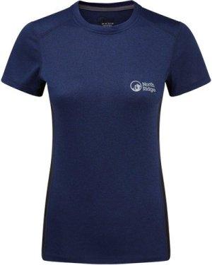North Ridge Womens Resistance Short Sleeve Baselayer, Blue/SS