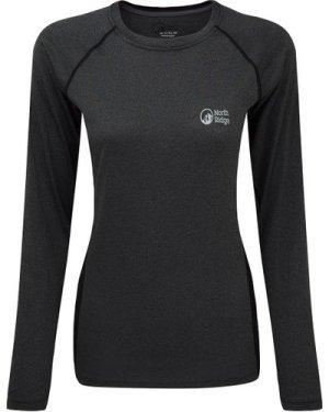 North Ridge Womens Resistance Short Sleeve Baselayer, Grey/LS
