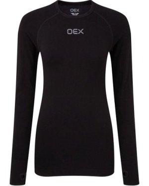 OEX Women's Barneo Base Long Sleeve Top, Black/WMNS