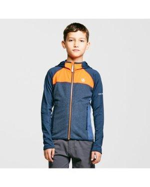 Dare 2B Kids' Hasty Full-Zip Hoodie - Navy/Orange, Navy/Orange