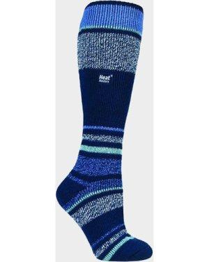 Heat Holders Women's Stripe Ski Sock - Navy/Navy, NAVY/NAVY