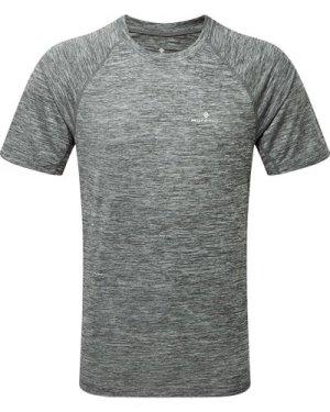 Ronhill Men's Momentum S/S Tee - Grey/Tee, Grey/TEE