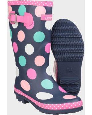 Cotswold Multicoloured Dotty Jnr Pull On Wellington Boots - Multi/Kids, Multi/KIDS
