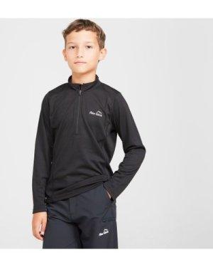 Peter Storm Kids' Balance Long Sleeve Baselayer Zip Tee - Black/Blk, Black/BLK