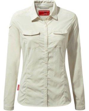 Craghoppers Women's Nosilife Adventure Ii Shirt - Cream/Ls, Cream/LS