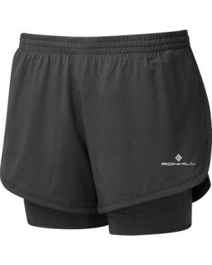 Ronhill Women's Stride Twin Short - Black/Short, Black/SHORT