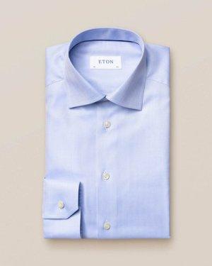 Light Blue Herringbone Twill Shirt