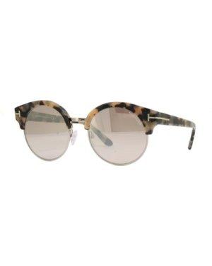 Tom Ford Alissa-02 TF608 56G Beige Havana/Brown Mirror **