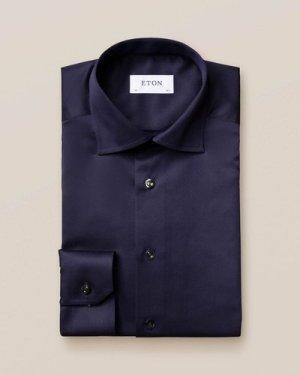 Dark Blue Signature Twill Shirt