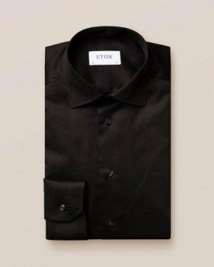 Black Signature Twill Shirt