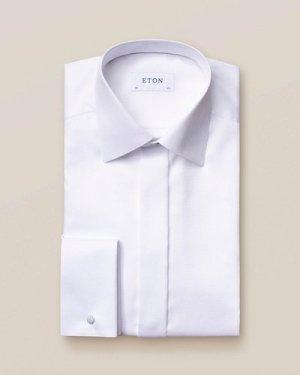 White Dobby Evening Shirt