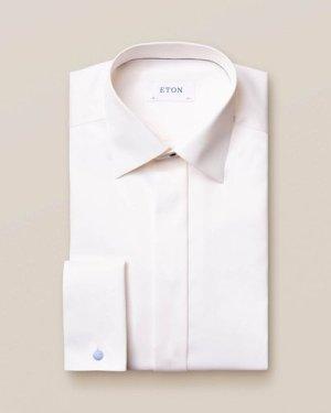 Off White Twill Evening Shirt