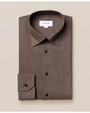 Brown Wrinkle-Free Flannel Shirt