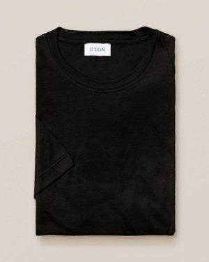 Black Filo di Scozia Cotton T-Shirt