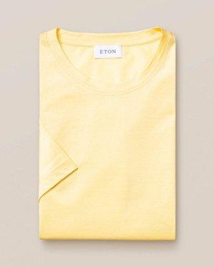 Yellow Filo di Scozia Cotton T-Shirt