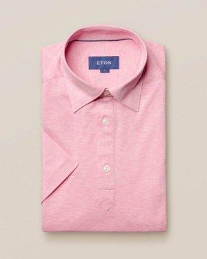 Pink polo shirt - short sleeved
