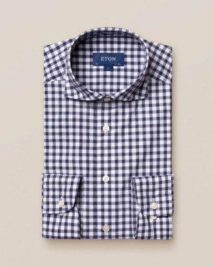 Dark Blue Gingham Shirt