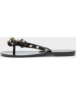 Women's Melissa Harmonic Stud Flip Flops Black, Black
