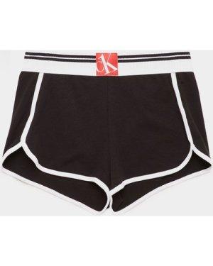 Women's Calvin Klein Underwear One Ribbed Shorts Black, Black