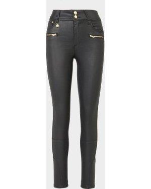 Women's Holland Cooper Coated Jodhpur Jeans Black, Black