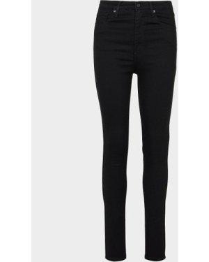 Women's Levis Mile High Waisted Skinny Jeans Black, Black