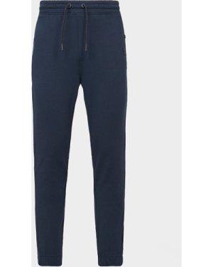 Men's BOSS Skyman Cuffed Fleece Pants Blue, Navy