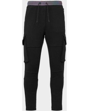 Men's BOSS Slylight Reflective Cargo Fleece Pants Black, Black/Black
